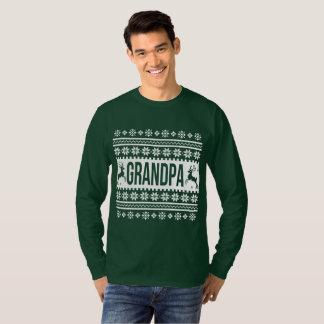 T-shirt Chandail laid de Noël de grand-papa