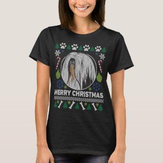 T-shirt Chandail laid de Noël de race de chien de Lhasa