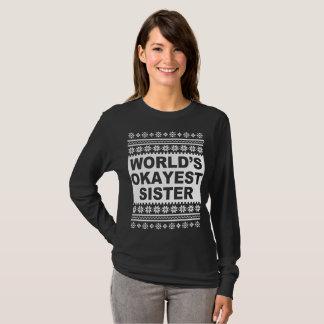 T-shirt Chandail laid de Noël de soeur d'Okayest des