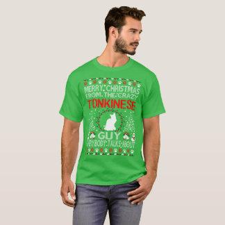 T-shirt Chandail laid de type de chat de Tonkinese de