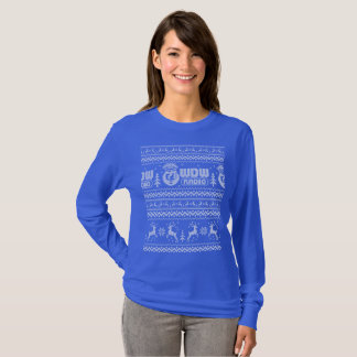 T-shirt Chandail laid par radio de Noël de WDW (dames)