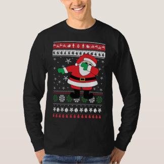 T-shirt Chandail laid tamponnant de Noël de Père Noël