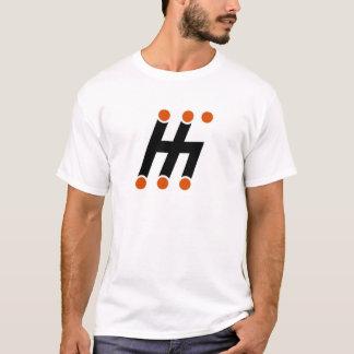 T-shirt changeant de logo de motif de H-Décalage