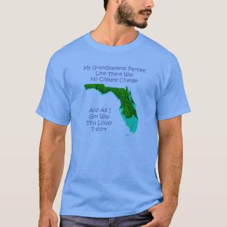 T-shirt Changement climatique - bleu