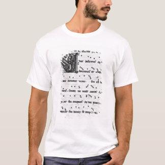 T-shirt Chanson de Ms.Fr 844 fol.138v par Blondel de
