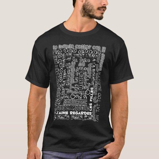 T-shirt Chansons françaises (blanc & noir)