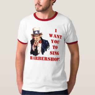 T-shirt Chantez le raseur-coiffeur