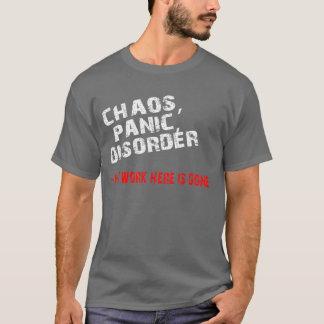 T-shirt Chaos, panique, désordre
