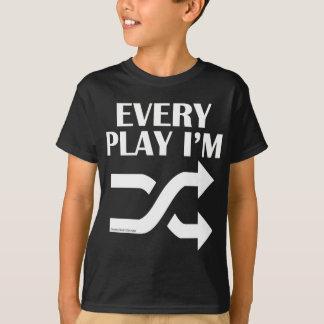 T-shirt Chaque jeu je suis Shufflin