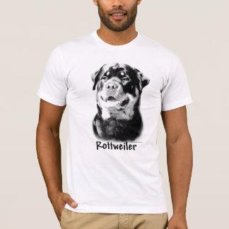 T-shirt Charbon de bois de rottweiler