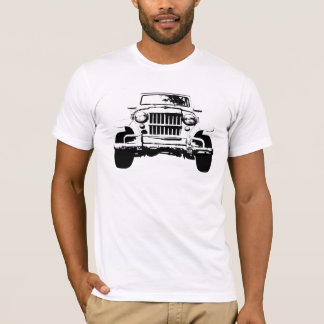 T-shirt chariot blanc de willys