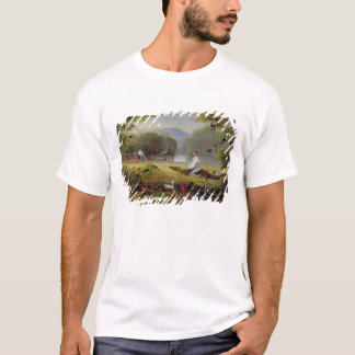T-shirt Charles Waterton capturant un caïman, 1825-26