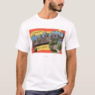 T-shirt Charlotte, la Caroline du Nord - grandes scènes de