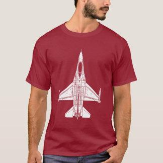 T-shirt Chasseur à réaction de combat du faucon F-16