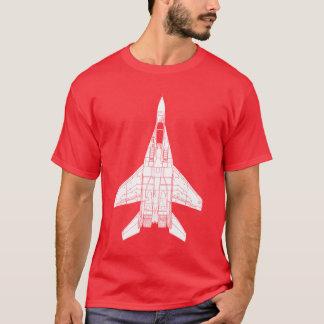 T-shirt Chasseur à réaction russe du point d'appui Mig-29