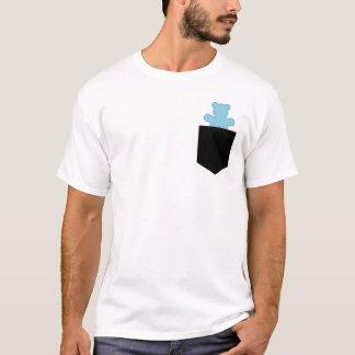 T-shirt Chasseur bleu CUB de loutre d'ours de poche
