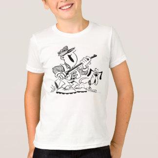 T-shirt Chasseur et chien de chasse heureux