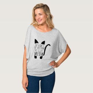 T-shirt Chat à être chaton je chat droit des textes de
