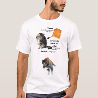T-shirt Chat anti-gravité