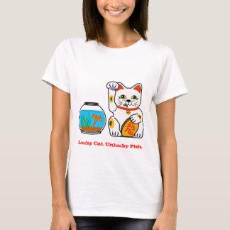 T-shirt Chat chanceux. Poissons malheureux