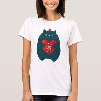 T-shirt Chat dans l'amour, Saint Valentin mignon de chaton