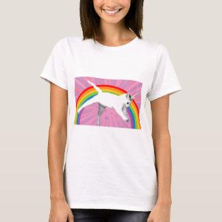 T-shirt Chat d'arc-en-ciel de licorne