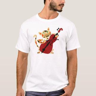 T-shirt Chat de calicot drôle jouant la bande dessinée