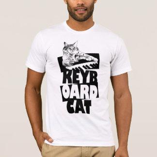T-shirt Chat de clavier - pièce en t empilée