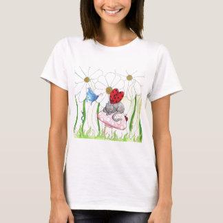 T-shirt Chat de fée de coccinelle