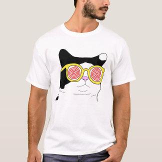 T-shirt Chat de hippie