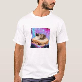 T-shirt Chat de l'espace de sandwich à vendredi