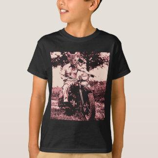 T-shirt Chat de moto