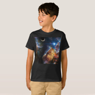 T-shirt Chat de nébuleuse - gros chat - chat de galaxie -