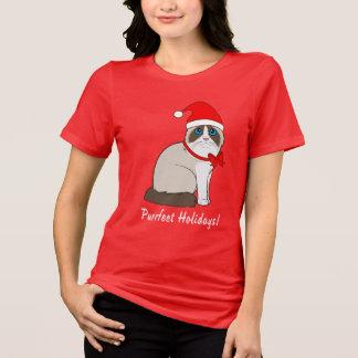 T-shirt Chat de Ragdoll avec des vacances de Purrfect de