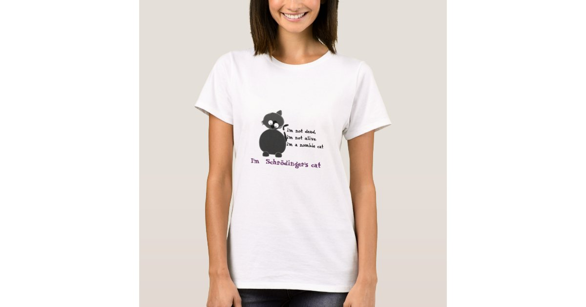 T Shirt Chat De Schrodinger S Zazzle Fr
