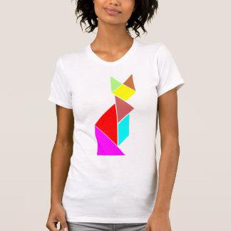 T-shirt chat de tangram