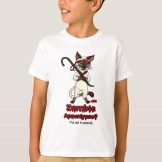 T-shirt Chat de Tonkinese avec le tueur de zombi de