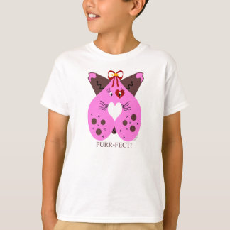 T-shirt Chat de Valentine Kitty de Ronronnement-Fect