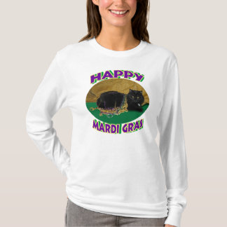 T-shirt Chat d'étoile de mardi gras