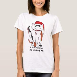 T-shirt Chat égoïste de Noël