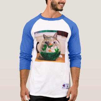 T-shirt Chat et poissons - chat - chats drôles - chat fou
