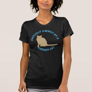 T-shirt Chat fièrement possédé de thérapie