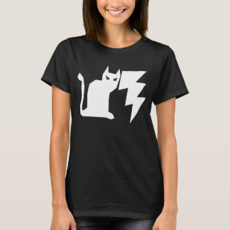 T-shirt Chat gothique de foudre de Kitty Lectro
