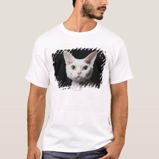 T-shirt Chat impair-eyed blanc