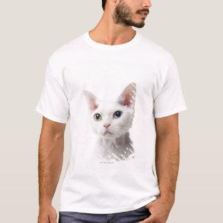 T-shirt Chat impair-eyed blanc 2