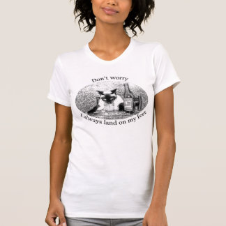 T-shirt chat ivre