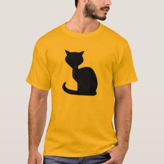 T-shirt Chat jaune-orange