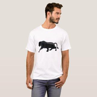 T-shirt Chat liquide d'aquarelle d'art d'abrégé sur