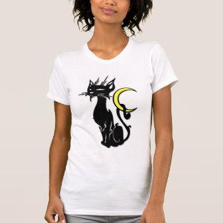 T-shirt Chat noir avec la lune
