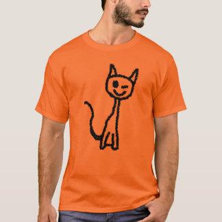 T-shirt Chat noir, clignant de l'oeil
